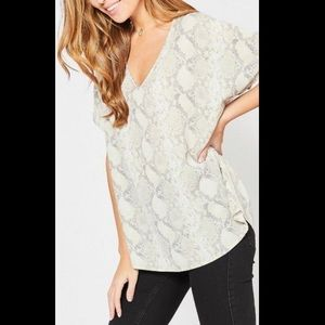 Entro boutique snake print shirt